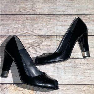 Stuart Weitzman Shoes - Stuart Weitzman Peep Toe Pumps Size 7 Black